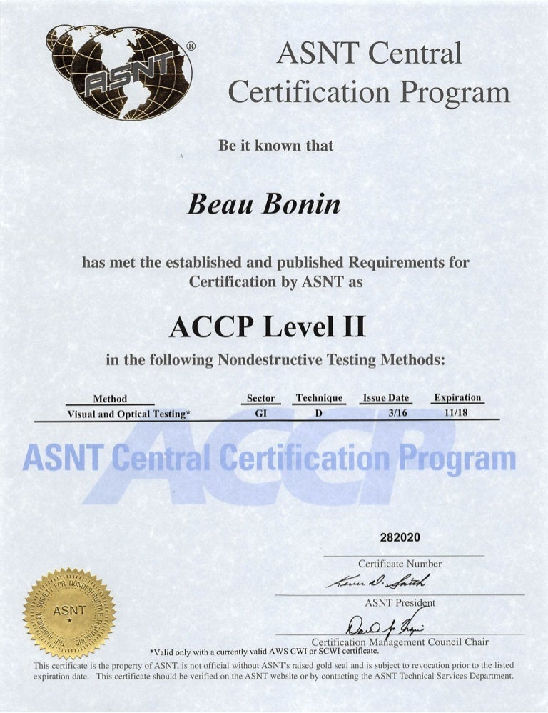 Asnt Accp Level Ii Vt