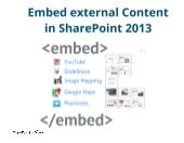 SharePoint Lesson #61: Embed non-MS Content in SP2013