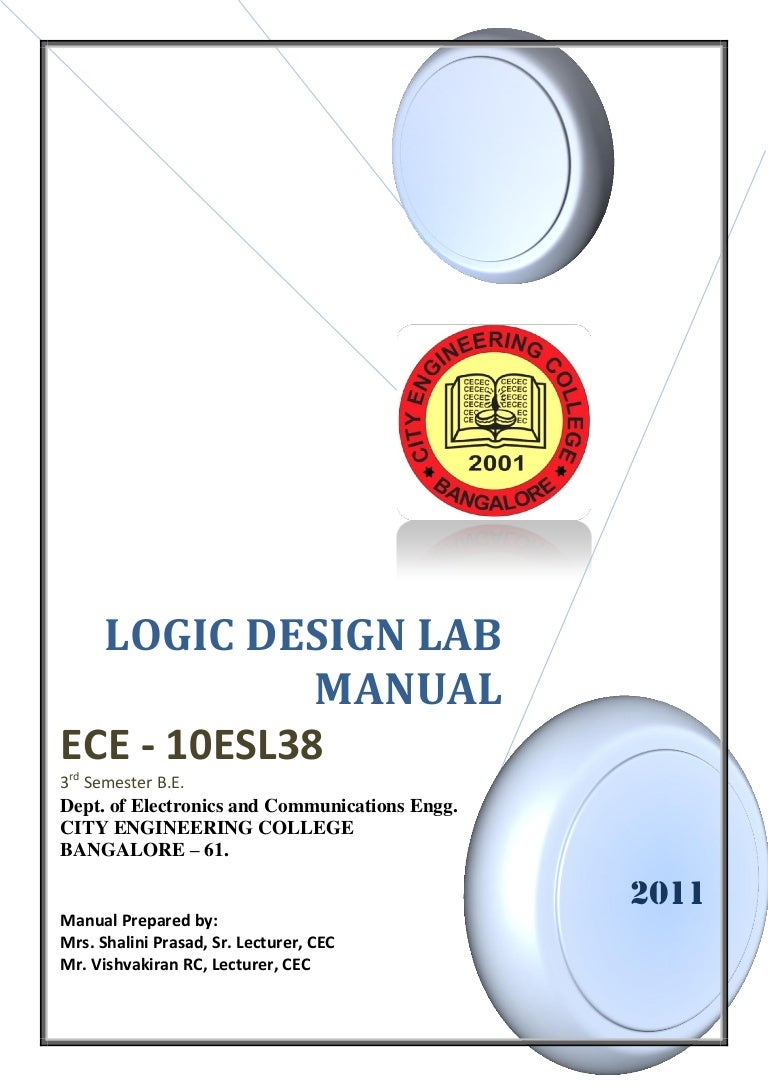 343logic Design Lab Manual 10 Esl38 3rd Sem 2011 Full Subtractor A Logic Circuit Which Is Used For Subtracting Three