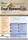 5th International Congress Door Systems 2011