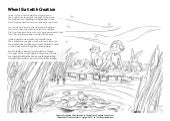 Coloring Page: When I Sat with Creation