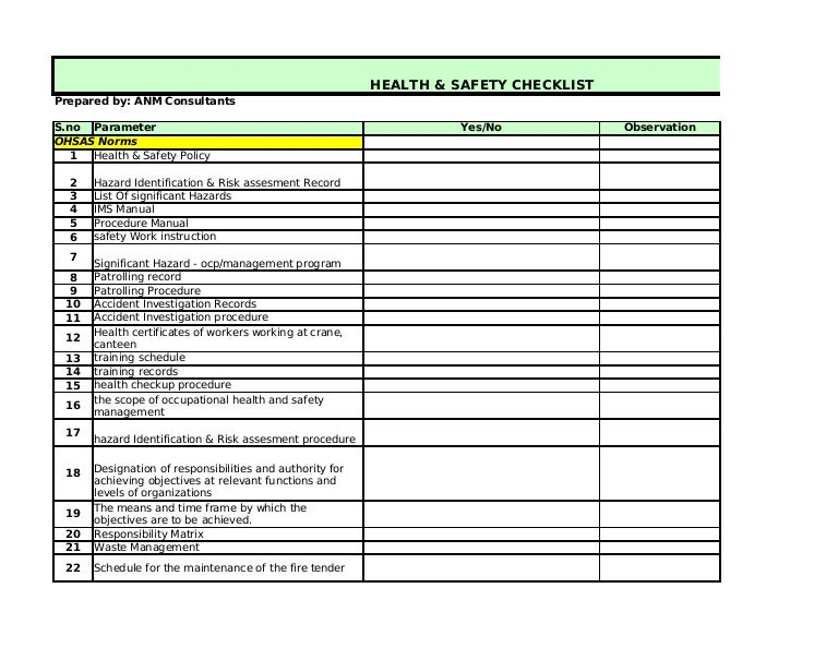Beautiful Fire Safety Audit Template Elaboration - Resume Ideas ...