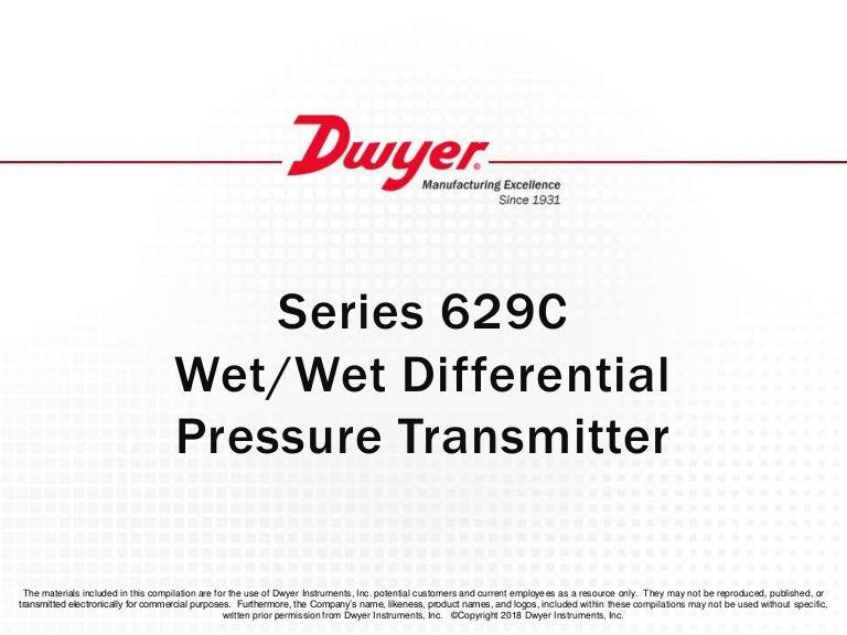 629C Pressure Transmitter Dwyer 629C-19-CH-P3-E1-S1