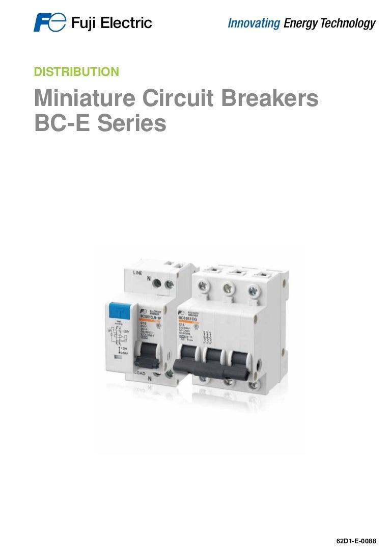 Miniature Circuit Breakers Bc E Series Fuji Electric For Sale Dc Breaker Electronic