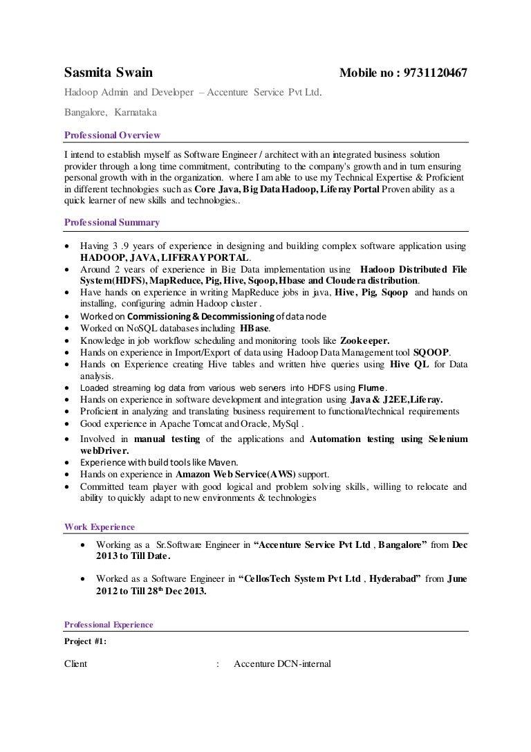 sasmita bigdata resume