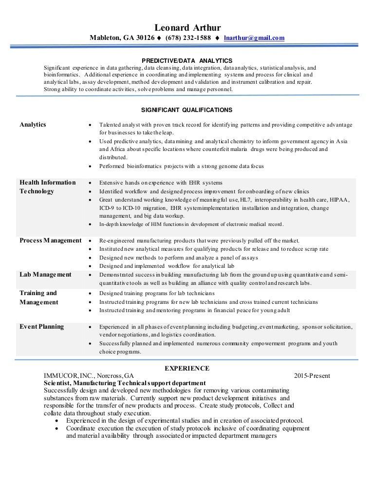 leonard dataanalyst resume