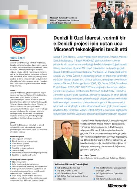 DENIZLI IL OZEL IDARESI - CASE-Başarı Hikayesi