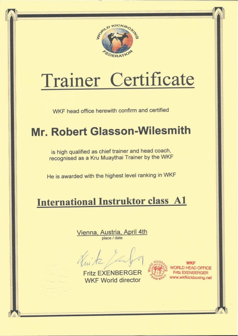Wkf Kru Master Trainer Certification