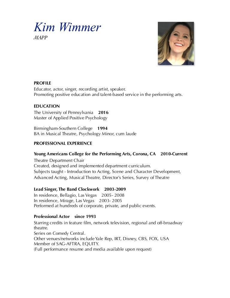 performance resume - Vaydile.euforic.co
