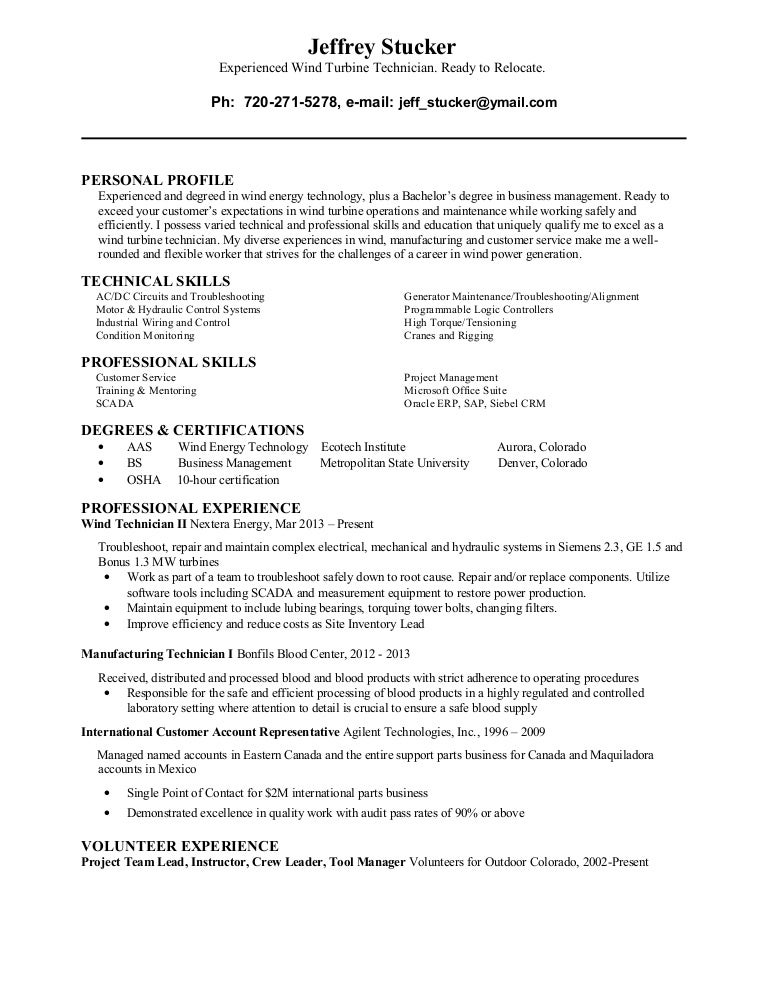 Luxury Wind Energy Resume Colorado Festooning - Best Resume Examples ...