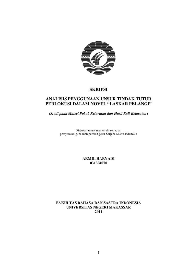 Analisis Penggunaan Unsur Tindak Tutur Perlokusi Dalam Novel Laskar P