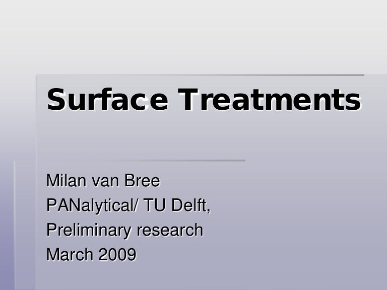Surface Treatments for