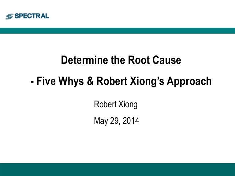 Robert Xiongs 5 whys Methodology – 5 Whys Worksheet