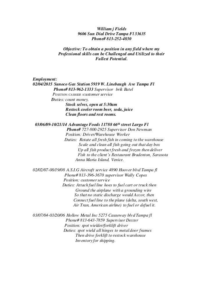 William j Fields Resume 02 - 1 20 15