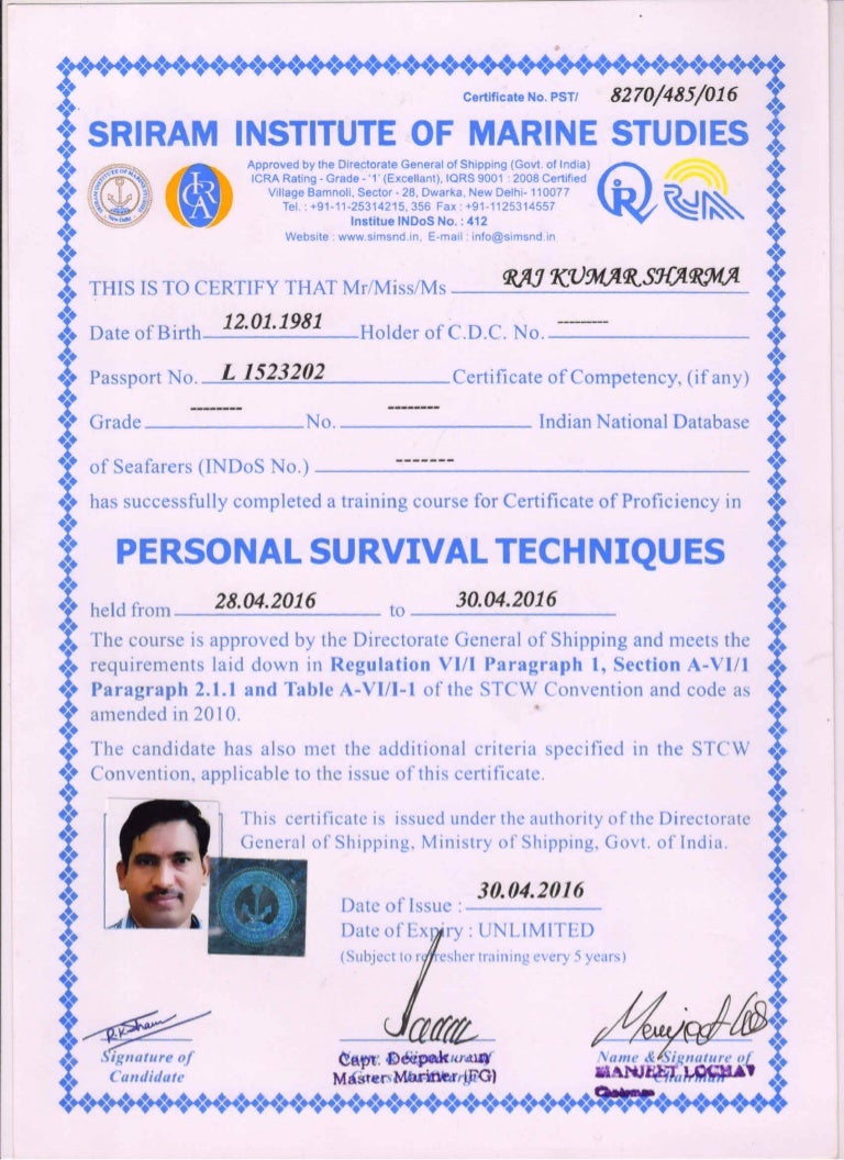 Offshore safety course stcw 2010 certificate 1betcityfo Choice Image