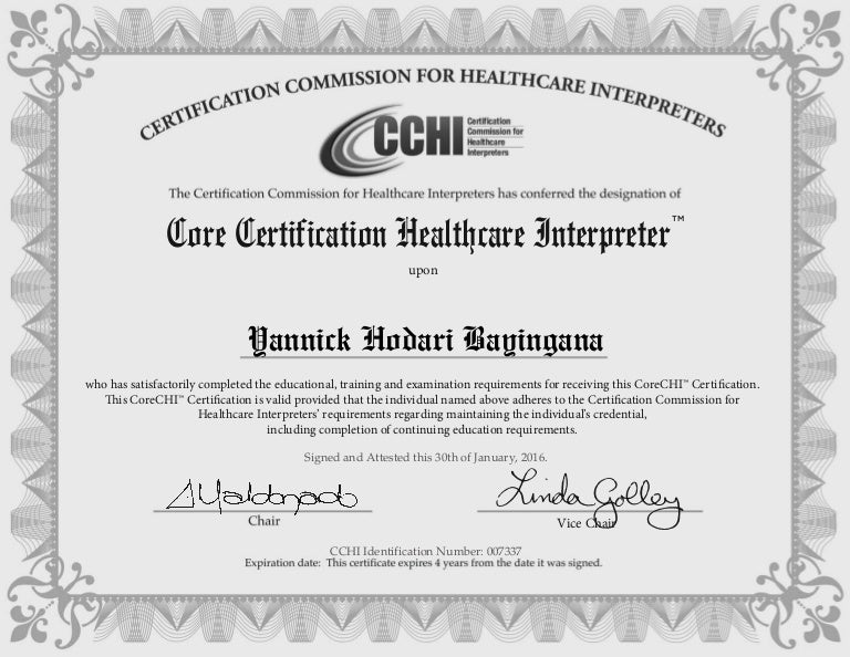 cchi medical interpreter certificate
