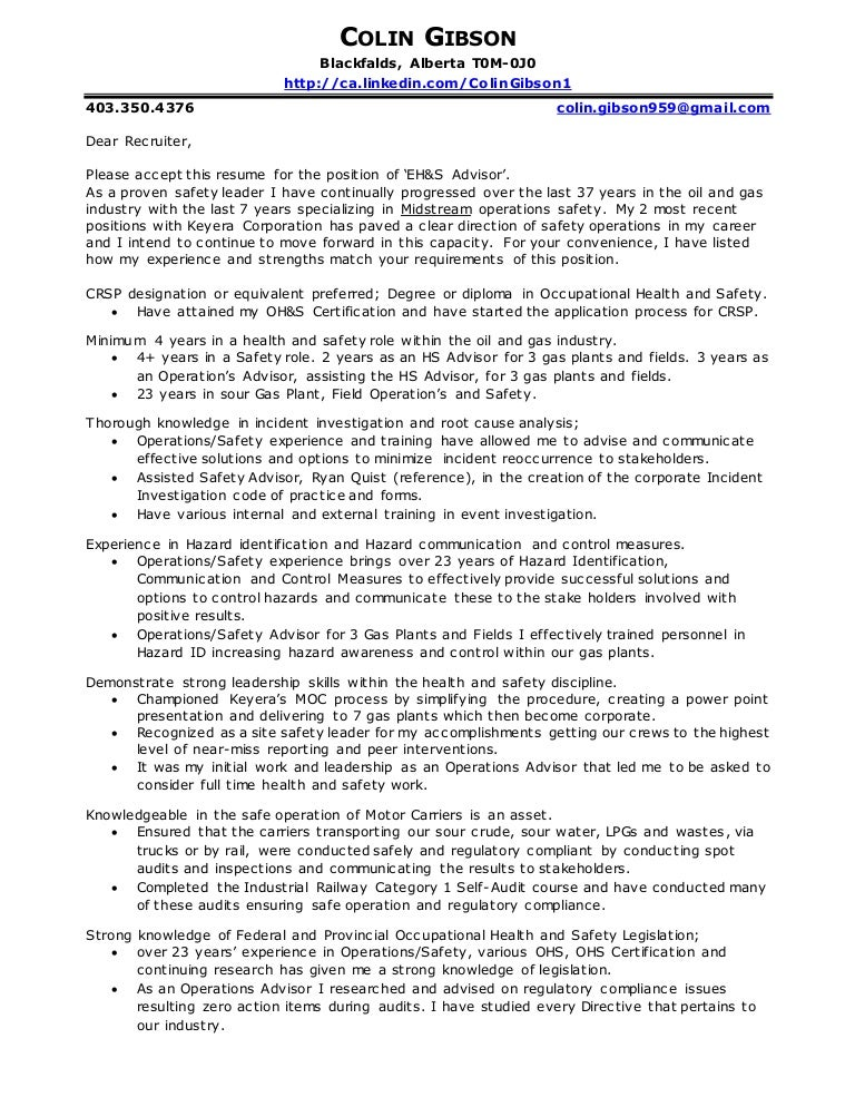 Gibson, Colin Cover Letter & Resume 2016b