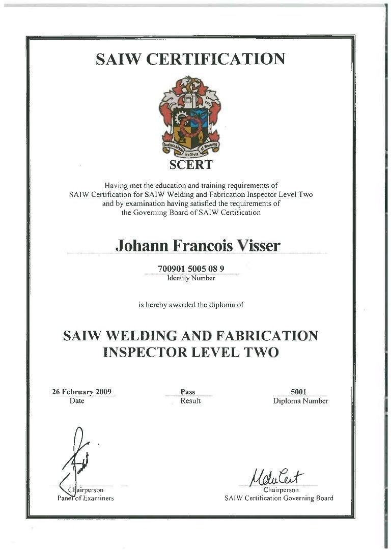 Welding and fabrication inspector level ii saiw welding and fabrication inspector level ii 1betcityfo Choice Image