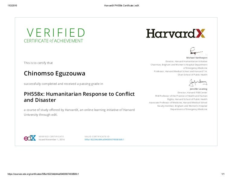 Harvardx Ph558X Certificate _ Edx