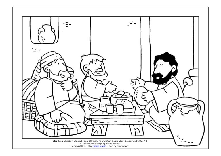 Coloring Page: Meals with Jesus: The Stranger on the Road