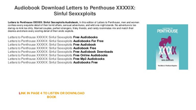 Letters to penthouse xxxxix download books on tape.