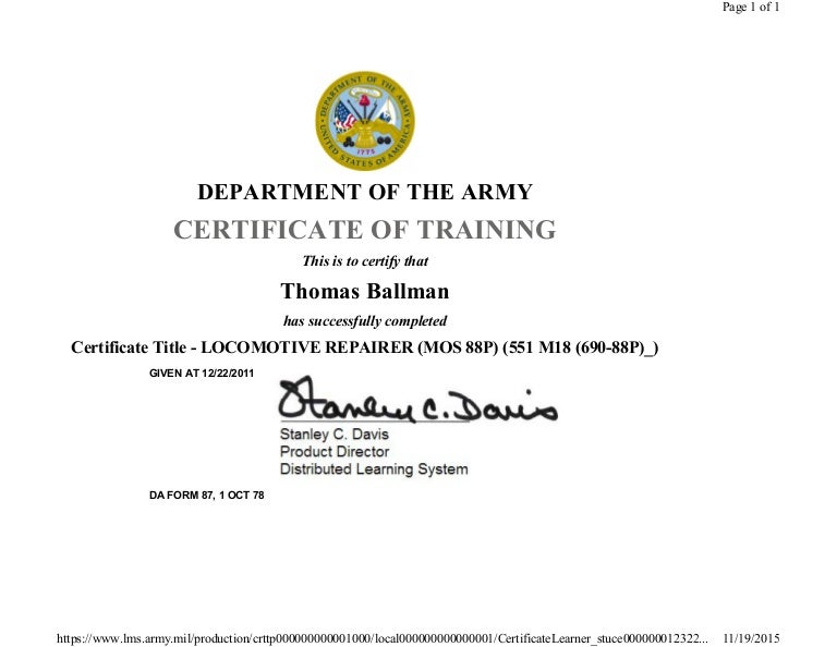 Locomotive Repair Course