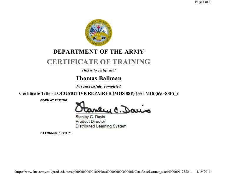 Locomotive Repair Course