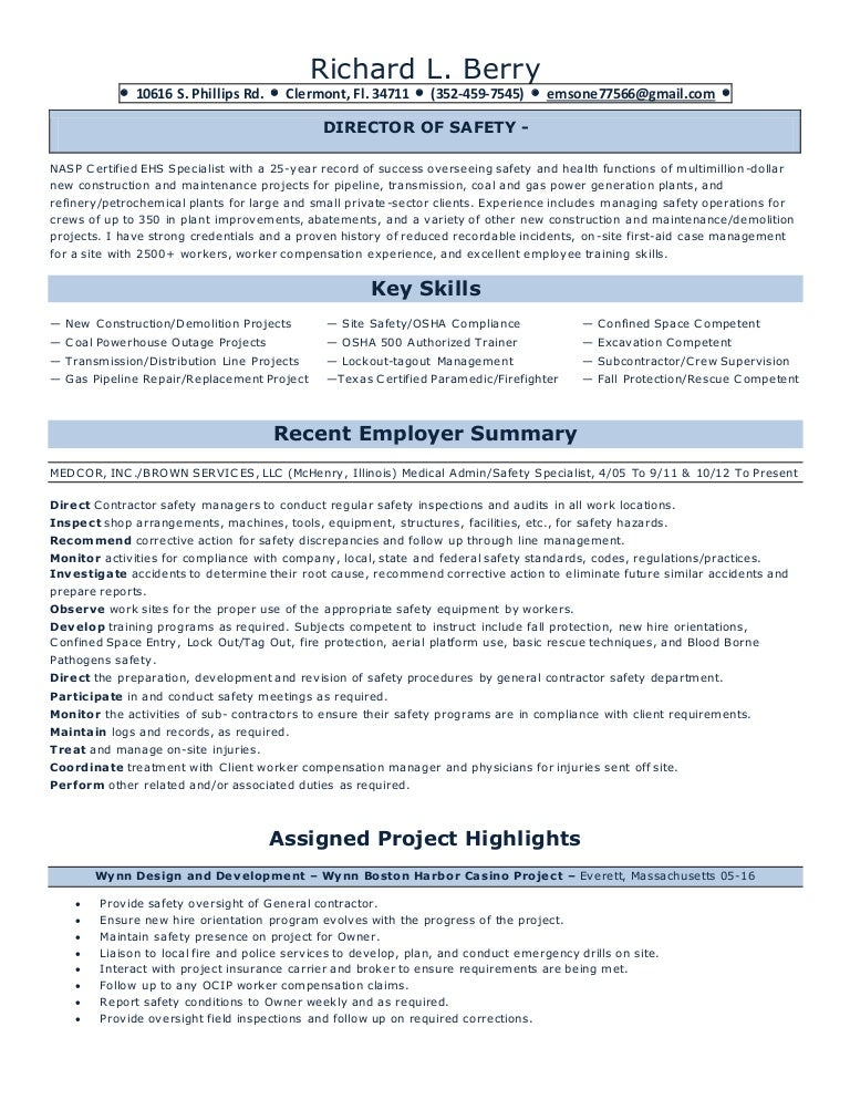 Richard L Berry Resume 2016