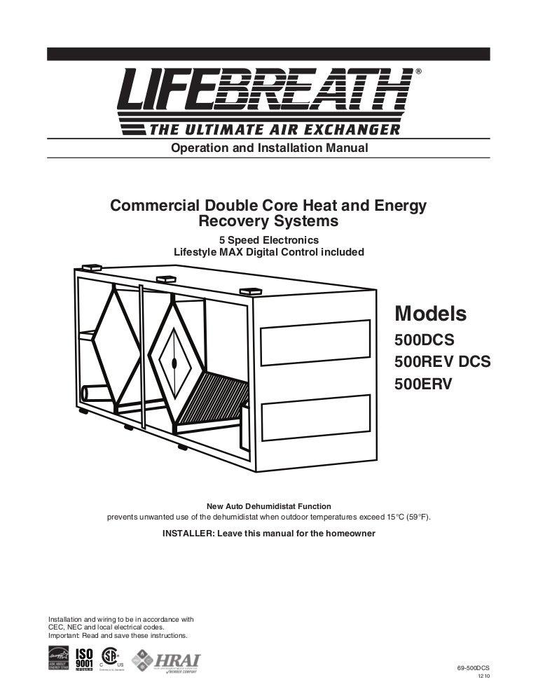 69 500dcs1210 110116072547 phpapp01 thumbnail 4?cb=1295165532 lifebreath operation & installation manual max series 500 erv lifebreath hrv wiring diagram at alyssarenee.co