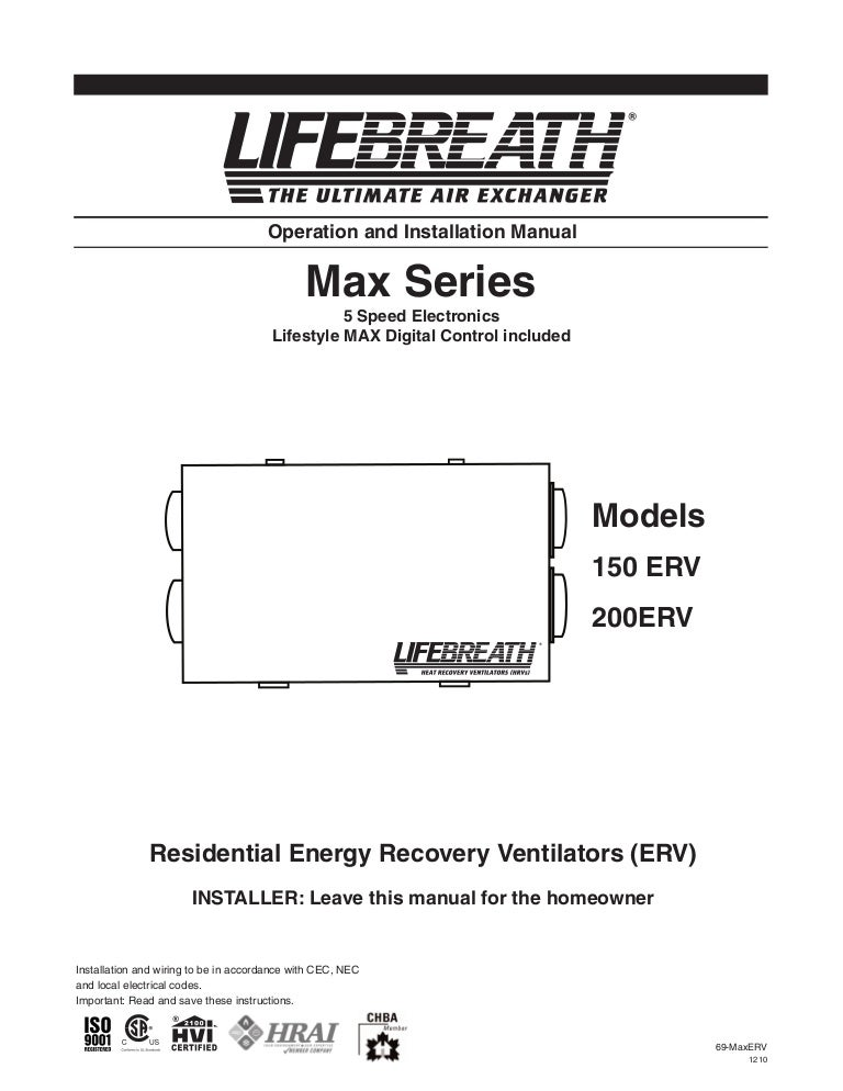 69 maxerv1210 110116072525 phpapp02 thumbnail 4?cb=1295163124 lifebreath operation & installation manual max series 150 200 erv lifebreath hrv wiring diagram at gsmportal.co