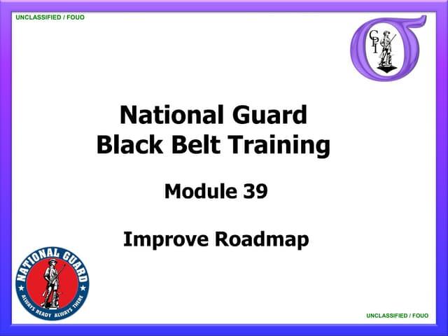 NG BB 39 IMPROVE Roadmap
