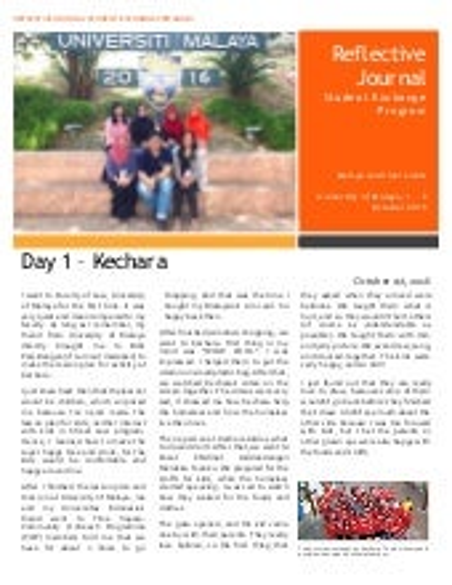 Reflective Journal on Sustainability