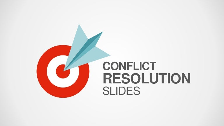 Slidemodel Conflict Resolution Powerpoint Template
