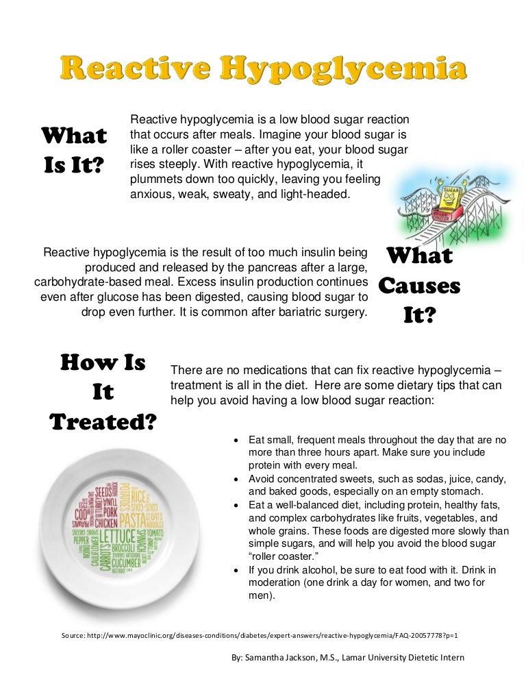 sc 1 st  SlideShare & Reactive Hypoglycemia Handout azcodes.com