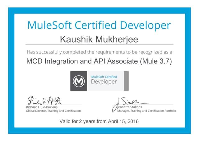 Mule-Certification