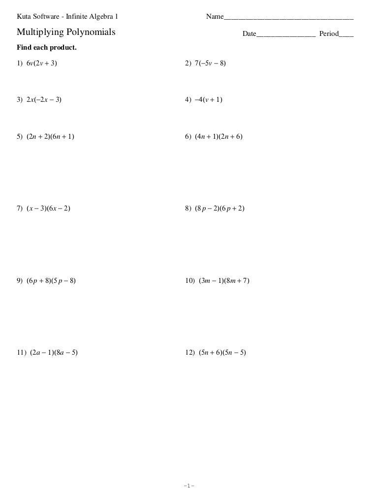 Multiplying Polynomials Coloring Activity | Math, Algebra ...