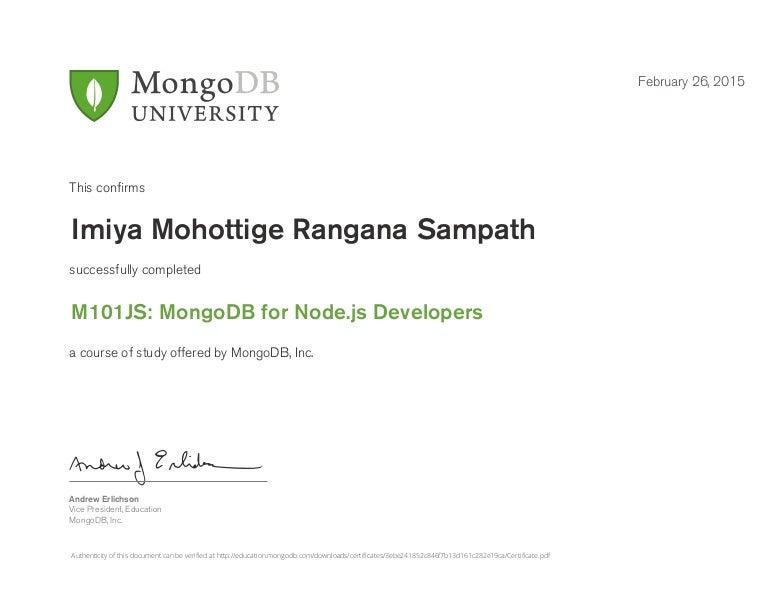 js certificate