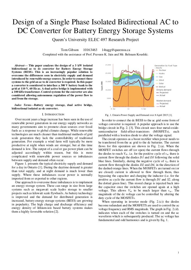 Design Of A Single Phase Isolated Bidirectional Ac To Dc Converter Fo Boost Dcdc Converters Power Content From Electronic
