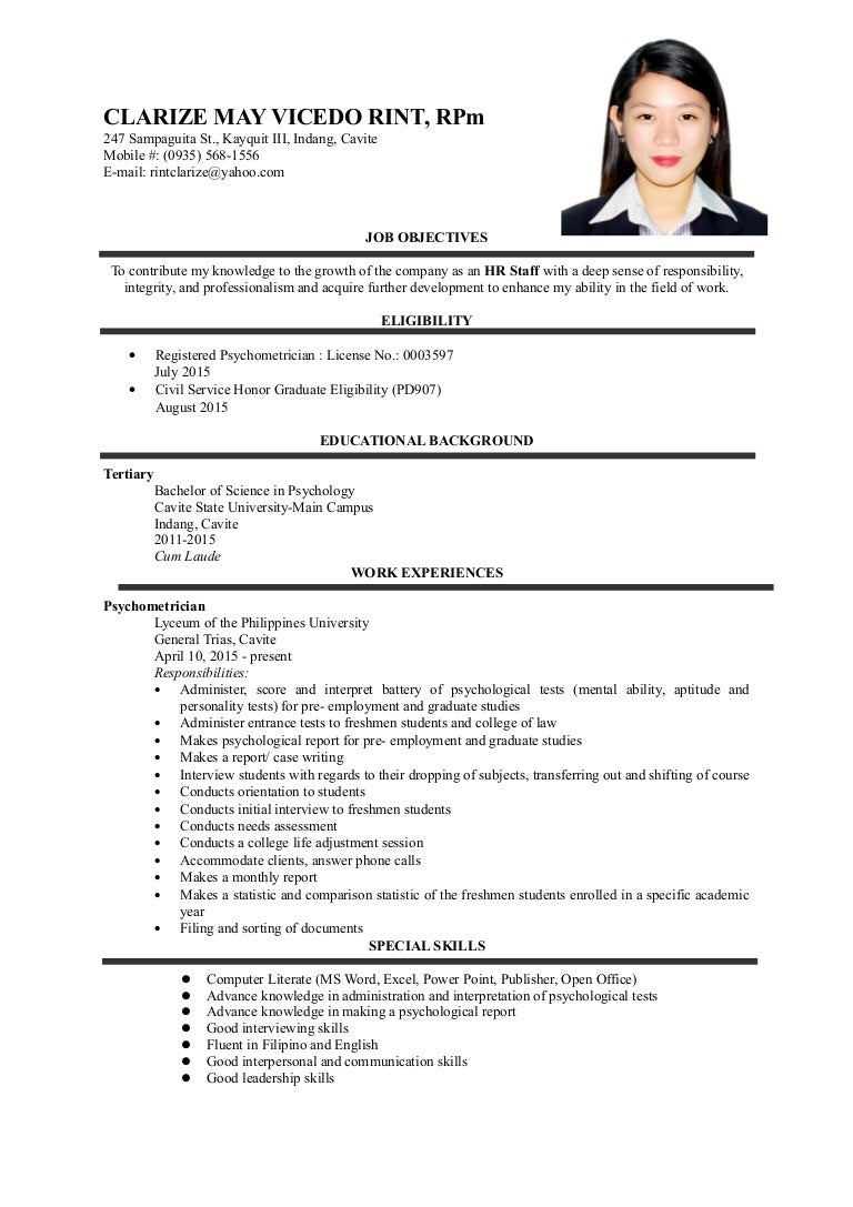 Resume Profile For Career Change