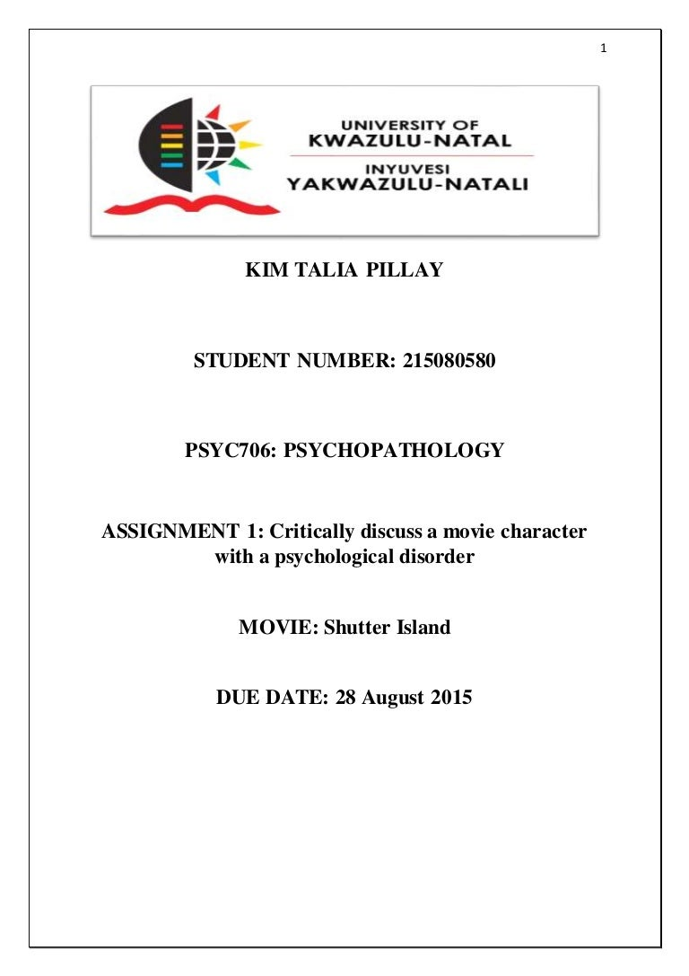 psyc psychopathology assign print copy