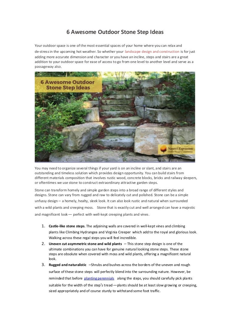 6 Awesome Outdoor Stone Step Ideas