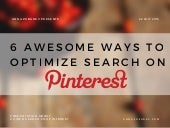 Pinterest Strategy How To Optimize Search On Pinterest. slideshare. via @annazubarev