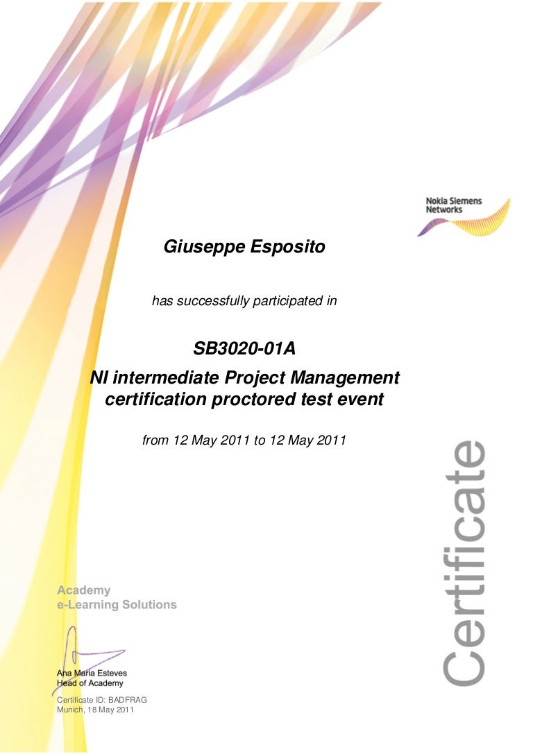 Certificate ni intermediate project management certification proctore xflitez Images