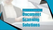 6 Benefits of Incorporating Document Scanning Solutions in Organizations