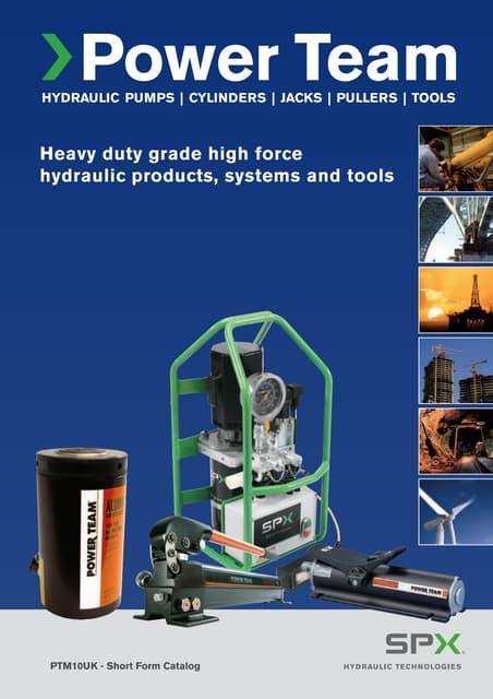 4 Stroke 4 Stroke SPX Power Team Corporation SPX Power Team RHA604D Double Acting Center Hole Cylinders 60 Ton Capacity