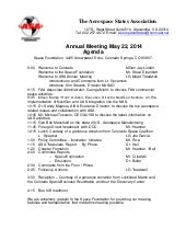 2014 annual meeting agenda draft