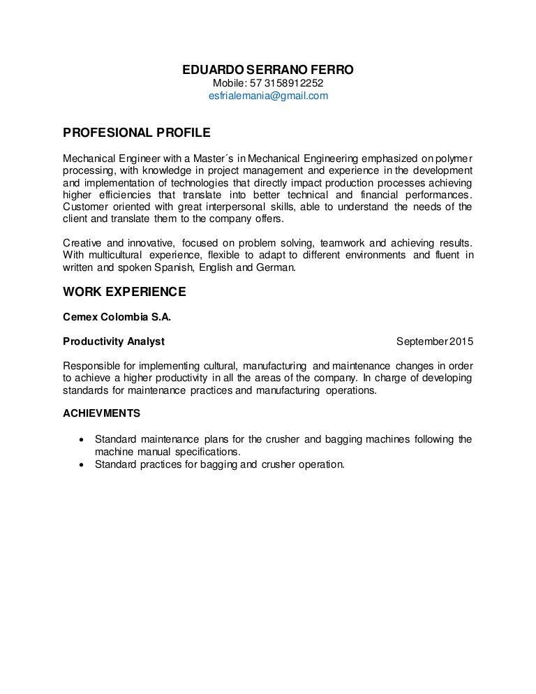 resume eduardo serrano rh slideshare net