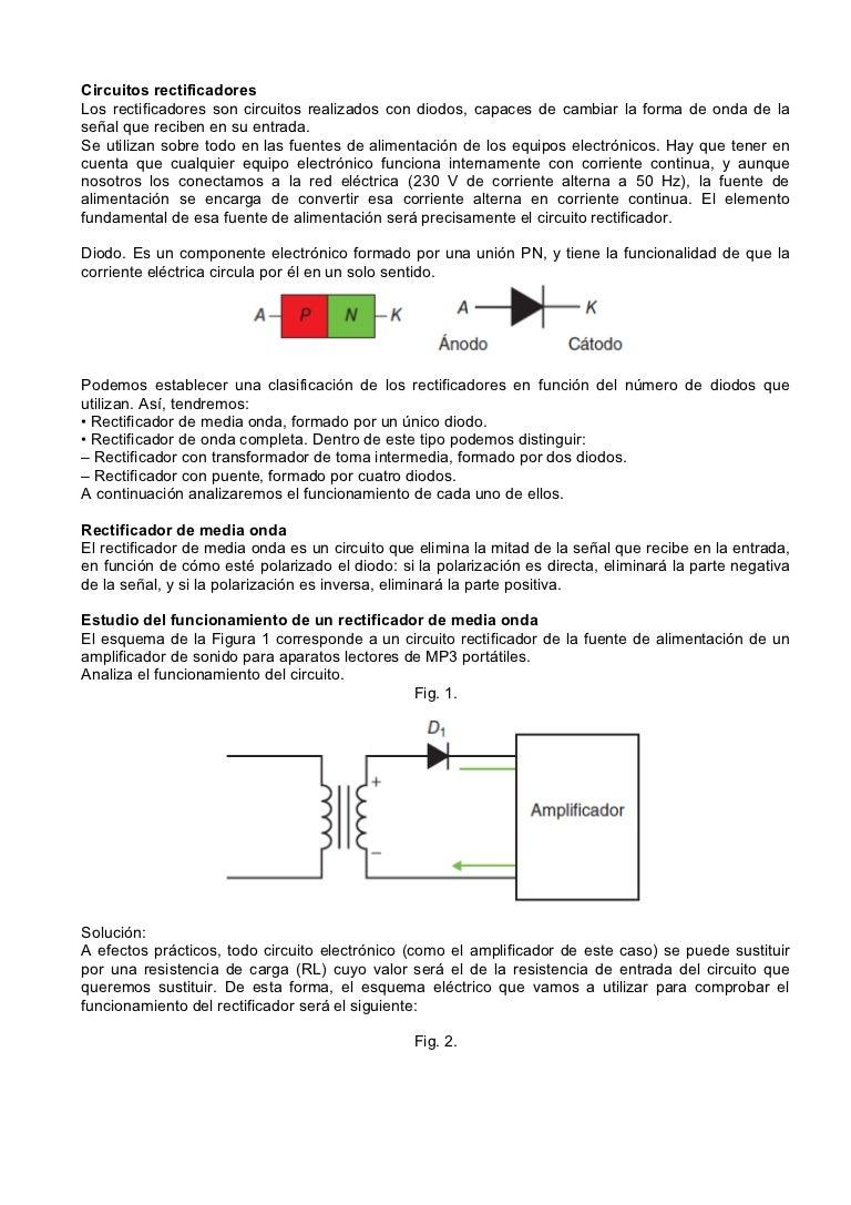 Circuito Onda : Circuito retificador de meia onda