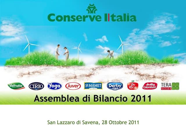 CONSERVE ITALIA Bilancio 2010