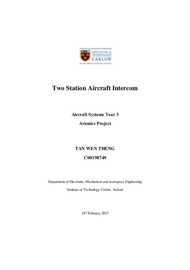 Avionics Project Report Audio Mixer Circuit Diagram Using Operational Amplifier